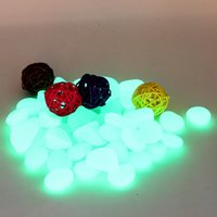 Wholesale 2 Colors Glow Fantastic Garden or Yard Decorative Gravelb Pebbles Stones For Walkway New