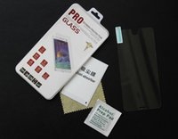 Wholesale Premium Tempered Glass Film Screen Protector With Package For iphone Plus S S Samsung S5 S4 S6 Note LG G3 HTC M8 epacket