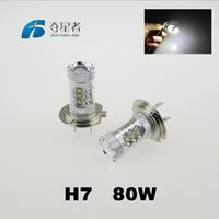Wholesale Factory Outlets New Car styling Super White H7 High Power W LED Projector Lumen Fog Driving