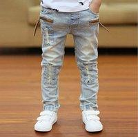 Wholesale Children s Jeans Baby Boys Jeans Pants New Autumn Winter Sanding Fashion Long Hot Sell Boys Jeans Pants