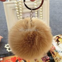 keychina - fake rex rabbit fur ball keychain cm cm diameter fur ball womenmen children accessories Fur Pom Keychina handbag keyring