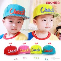 baseball baby names - Brand Name Check letter children baseball cap FASHION Kids Summer snapback sun caps baby child hip hop hats hats caps