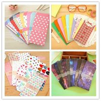 Wholesale 5 bag New Cute Cartoon Kawaii Paper Colorful Dot Star Envelope for Gift Card Baby Korean Stationery A5