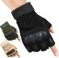 Sport Outdoor Tactical Gloves Army Paintball Airsoft Outdoor Combat Anti-Skid Fingerless Fighting Carbon Knuckle Half Finger Cycling Gloves
