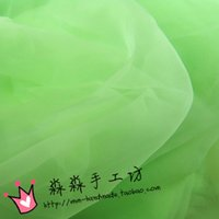 Wholesale Clothing in the modelling of cloth hard green grass green ice cream green organza glass yarn thin fabrics KeGen yarn