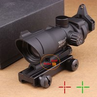 laser sight - 2015 New Hunting ACOG X32 Telescopic Sight Red Green Dot Laser Sight mm Mounts Scope Sight