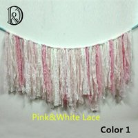 Wholesale Handmade Lace Fringe Bed Bumper Banner Basket Filler Stuffer Newborn Baby Photography Prop Photography Backdrop Background
