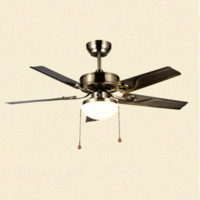 Wholesale New Modern Ceiling Fan European Ceiling Fan Crystal Chandelier Metal Lamp Vintage Hanging Lights Living Room Lighting