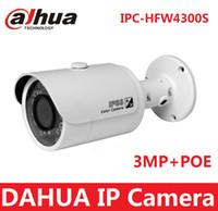 Wholesale Original Dahua IPC HFW4300S P1080P gun waterproof network camera MP IR ip camera cctv camera support POE