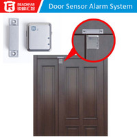 Wholesale Free DHL Wireless Home Magnetic Sensor Alarm Detector Door Window Security Systems GSM Window Door Alarm RF V13