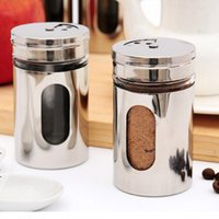 Wholesale visible stainless steel Salt pepper shakers kithcenware kitchen tools this price only one CB14