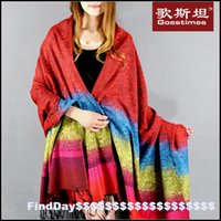 air conditioning offers - P special offer meters large colorful gradient ethnic wind large shawl cotton scarf air conditioning room