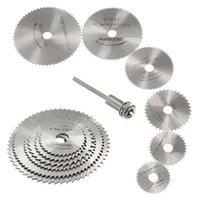 Wholesale 2015 New HSS Rotary Tools Circular Saw Blades Cutting Discs Mandrel Cutoff Cutter Power tools multitool Christmas Gift