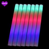 Led Mousse Mousse Sticks clignotant bâton lumineux Acclamation Glow mousse bâton lumineux Bâtons Festivals de Noël Carnaval concerts dirigés Cheer Props
