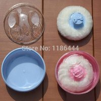 baby powder puff - 1PCSChic Baby Beauty Makeup Soft Villus Powder Puff Sponge Case Box Cosmetic Tool UO