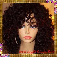 Cheap Ombre two tone curly wigs brazilian virgin human hair ombre lace front wigs glueless full lace curly wig for black women with