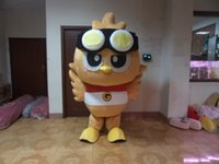 big bird hats - Brown Owl Owlet Mascot Costume Bird Adult With Big Round Eyes Small Black Grey Hat Fancy Dress