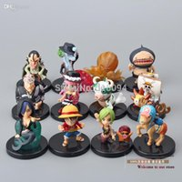 Wholesale Anime One Piece Lufft Chopper Perona Shyarly Keim PVC Action Figure Model Toys Dolls set OPFG324
