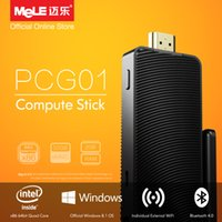 atom fanless - Fanless Intel Compute Stick MeLE PCG01 Quad Core Mini PC Genuine Windows Atom Z3735F GB DDR3 GB eMMC HDMI WiFi Bluetooth