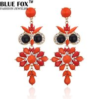Wholesale European and American Style Fashion Owl Shape Alloy Drop Big Earrings For Women Can Be Mixed Batch pf