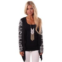 aztec sweater jacket - Cardigan Women Knitted Sweater Fashion Aztec Long Sleeve Open Front Cardigan Top Jacket Air conditioning Asymmetrical Shirt