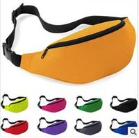 belly pillow - 200pcs CCA2552 Unisex Portable Multifunction Sport Runner Fanny Pack Belly Waist Bum Bag Fitness Running Jogging Belt Solid Pouch Waist Bag