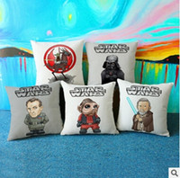 Wholesale Star Wars Pillow Covers Cartoon Darth Vader Cushion Covers Linen Pillow Case Pillow Cushions Cover European Throw Pillow Cases