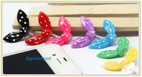 Wholesale 2016 New Arrival mm Headset Earphone Anti Dust Gadgets Dustproof Rabbit Many Colors For Iphone s s plus plus Anroid Phone
