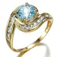Middle Eastern aquamarine stone - Sale Rare Size Jewelry Breathtaking Blue Aquamarine Halo K Yellow Gold Filled Women s Engagement Gift Rings R019YBA
