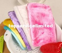 Wholesale Anti greasy multi color magic bamboo fiber washing dish cleaning cloth scouring pad towel kitchen cleaning wipes rag