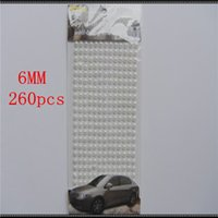 Wholesale New set White pearl mm In Crystals Rhinestones Car DIY Decal Decor Stickers Styling Accessories