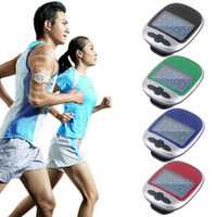 Wholesale Mini LCD Pedometer Calorie Walking Running Jogging Walking Distance Calculation Digital step Counter with clip Outdoor Fitness Equipment