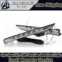 Cheap Car Styling LED DRL for Renault KOLEOS drl 2011-2013 Daytime Running Light LED FOG LAMP driving light park charger accessories