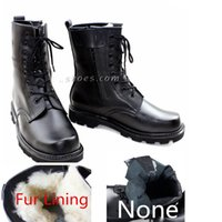 men military boots fashion - 2015 New Arrival Winter Boots For Men Wool Lining Men s Knee High Snow Boots Genuine Leather Military Boots Black Cowboy Boots