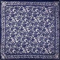 Wholesale Guarantee Silk Scarf Women Scarf Paper Cutting Art Medium Square Silk Scarf cm Female Middle Bandana Luxury Gift