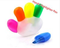 Wholesale Free Ship Hand Shape colors Highlighter Pen Luminous Pens Promotional Pen ASSORTED COLORS Christmas Gift