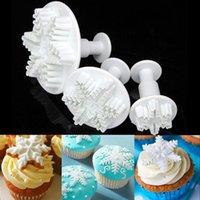 fondant - 3Pcs Set Snowflake Fondant Cake decorating tools Cupcake Kitchen fondant Kitchen accessories Cake mold Stand