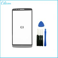 Wholesale Front Glass Lens For LG G3 D850 D851 D855 VS985 LS990 Outer LCD Glass Lens Touch Screen Replacement Repair