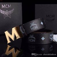 Wholesale 2015 NEW MCM Belt Cool Belts for Men and Women belts Fashion Casual Belts M Shape Metal strap Ceinture Buckle