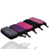 Wholesale 2015 Dhl Fedex Rectangular Box Fashion Glasses Case Letters Environmental Compression Zipper Sunglasses With Hook
