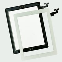 Wholesale 1PC for iPad Touch Screen Glass Panel with Digitizer Buttons Adhesive for iPad Black and White