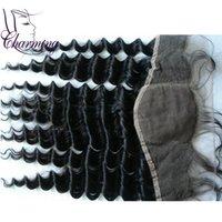 bank closure - Brazilian Deep Wave Silk Base Frontal Closure Virgin Human Hair Best Deep Wave Lace Frontal Ear To Ear With Baby Hair