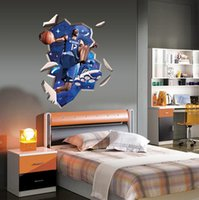 basketball room decor - Dwight Howard Bounce Basketball Fans D Through Wall Stickers home Decor Art Decoration for Kids Room Gifts