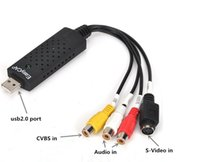 Wholesale Easycap USB RCA AV S Video CVBS Audio Video VHS to DVD Converter Capture Card Adapter