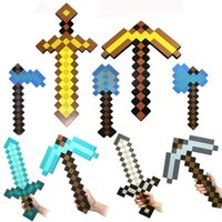 gun - Minecraft Diamond Sword Pickaxe Toys Foam EVA Mosaic Axe Weapon Models Christmas Gifts For Kids Toys S30150