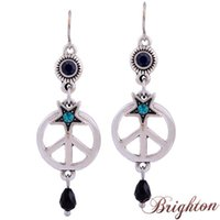 bijoux - New Bijoux Colorful Imitation Gemstone Crystal Silver Plated Star Pendant Jewelry Beads Drop Earrings for Women Gift