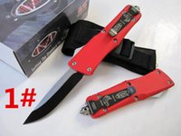 Wholesale HIght Recommend microtech troodon red Hunting Folding Pocket Knife Survival Knife Xmas gift for men freeshipping