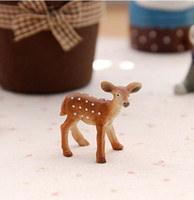 Wholesale cm little deer fairy garden gnome animals moss terrarium home decor crafts bonsai doll house miniatures m022