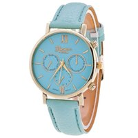 aw water - 3 Colors Fashion Bella Leather Strap Watch Women Dress Watches Geneva Watches AW SB