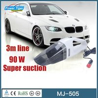 Wholesale New Arrival W Super Suction Mini V High Power Wet and Dry Portable Handheld Car Vacuum Cleaner Black MJ